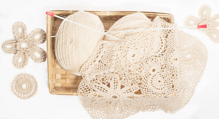 Lace crochet and knitting