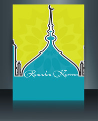 Ramadan kareem beautiful card for festival brochure template Mos