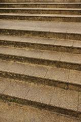 Alte Treppe aus Waschbetonplatten