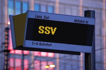 Anzeigetafel 1 - SSV