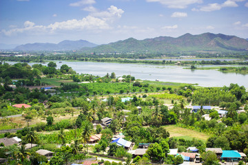 Natural view of Kanchanaburi city, Thailand