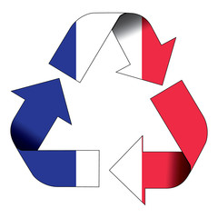 Recycle symbol flag - France