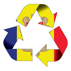 Recycle symbol flag - Andorra