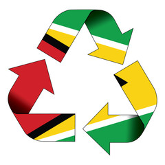 Recycle symbol flag - Guyana