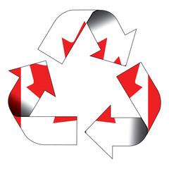 Recycle symbol flag - Canada
