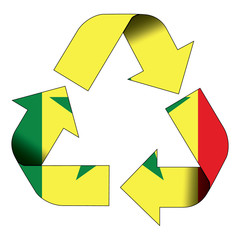 Recycle symbol flag - Senegal