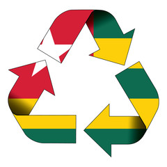 Recycle symbol flag - Togo
