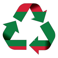 Recycle symbol flag - Maldives