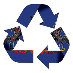 Recycle symbol flag - Pennsylvania