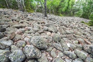 Boulder ridge or esker in Sweden