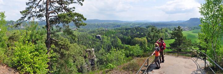 Panoramafoto Sächsische Schweiz