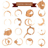 Fototapety coffee circles