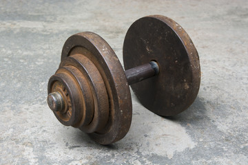 Dumbbells at fitness park