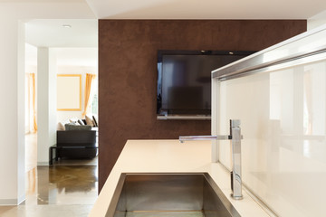 Modern kitchen, sink