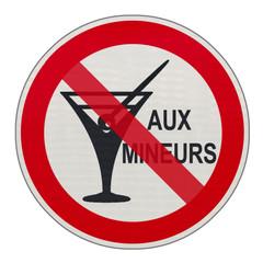 panneau danger, alcool, interdit aux mineurs