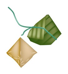 Rice Dumpling or Zongzi in Bamboo Leaf