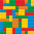 seamless vector. plastic construction blocks