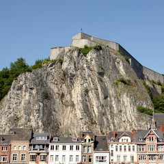 Citadel on a rock in the city of Dinant. Ardennes