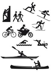 Diverse Sportzeichen