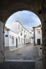 The street in historic center of Faro