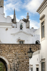 Church bells in Old Town historic district of Faro