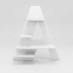 alphabet shelf shape A