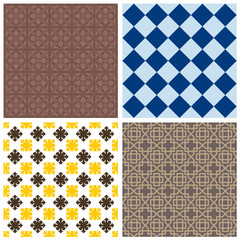 Various ornamental seamless patterns