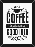 Black & White Coffee Poster
