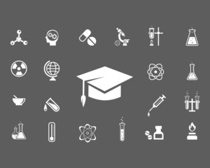 Set of trendy science icons