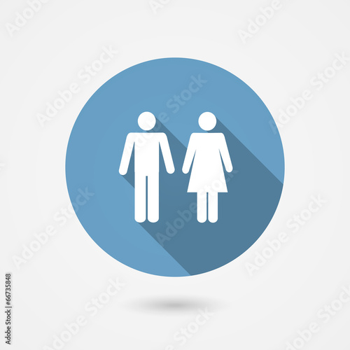 Male and female WC icon