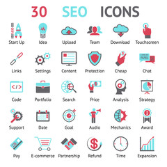 vector 30 SEO icons