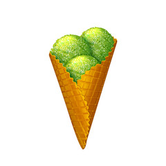 Ice cream wafer cone. Vector