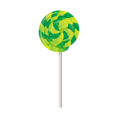Candy on a stick, spinner, spiral. vector.