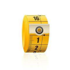tape measure over isolated white background