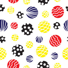 Seamless vector background with circles.
