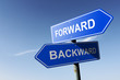 Forward and Backward directions.  Opposite traffic sign.