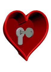 anahtarlı kalp tasarımı