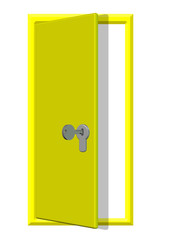 sarı renkli açık kapı