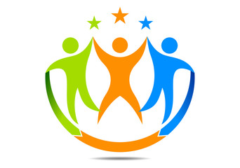 Teamwork , creative, success, association logo