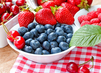 Fresh blueberry (organic berry fruits)