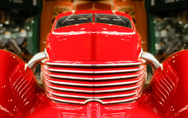 abstract of a vintage red muscle car © Steve Mann