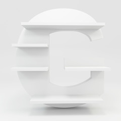 alphabet shelf shape G