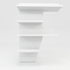 alphabet shelf shape F