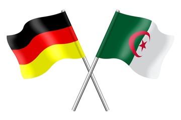 Fahnen: Algerien und Deutschland