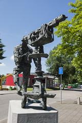 Skulptur beim Mediapark in Hilversum