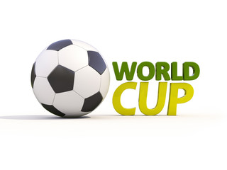 World cup and soccer ball