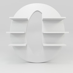 alphabet shelf shape O