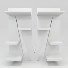 alphabet shelf shape M