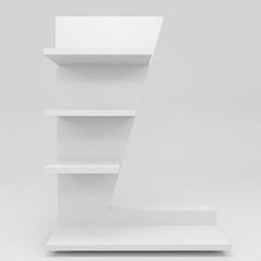 alphabet shelf shape L