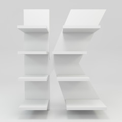 alphabet shelf shape K